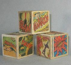 Comic book blocks. I want to make these.