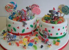 Torta de cumpleaños con golosinas