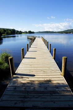 The jetty at Coniston Water, Lake District, Cumbria, England