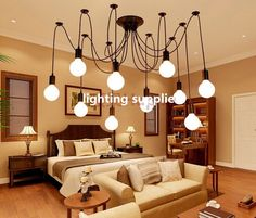 44.00$  Watch here - http://alioot.shopchina.info/go.php?t=32519244927 - mutilple arm edison bulb Pendant Chandelier Modern Vintage Loft Bar Restaurant Bedroom E27 Art Pendant industrial lamp  #buychinaproducts
