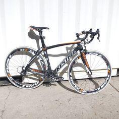 Kestrel RT-1000 SL w/Super Record Complete Road Bicycle Carbon/White/Orange 2012