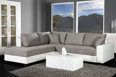 Loungebank Model: Apartment - Wit/Grijs