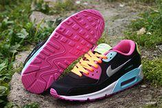 pretty nice dd2b4 edf60 Nike Air Max 90 women Hot Selling Black Rose fluorescent green, cheap Nike  Air Max 90 Women, If you want to look Nike Air Max 90 women Hot Selling  Black ...