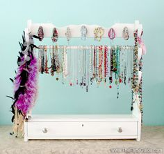 gun rack jewelry organizer
