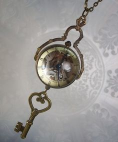 The Key to Time: Steampunk Watch Pendant $68.00