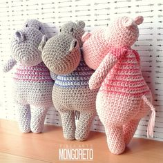 Hippo Amigurumi pattern by Mongoreto on Etsy