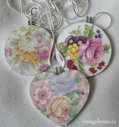 Vintagehome — Selection of Vintage Broken China Jewelry...