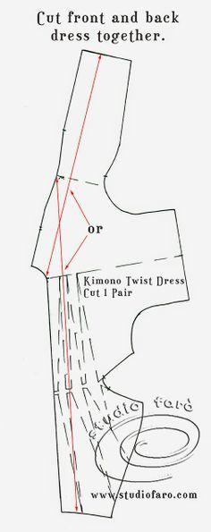well-suited: Pattern Puzzle - Kimono Twist Dress