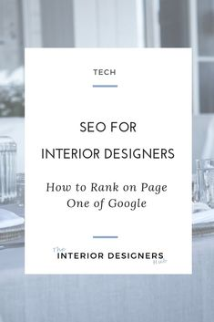 If you have a locally based interior design business, you want to make sure, when anyone searches for an interior designer in your town, that you appear top of those search results. And the way to do that? Master your SEO. Click through to read how.   #interiordesign #interiorlovers #interiordesigner  #studyinteriordesign#homeinterioruk #interiordesignstudents #interiordesigneruk #interiordesignersuk #studyinteriordesign #marketing #interiordesigncoach #socialmediamarketing