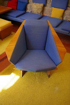 Gull-wing Chair by Frank Lloyd Wright