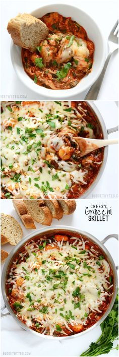 This Cheesy Gnocchi Skillet is comfort food at its best. In less than 30 minutes, you can have a warm, savory, and cheesy meal ready to satisfy. - BudgetBytes.com