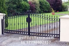simple design easily install garden gates high quality automatic swing gate