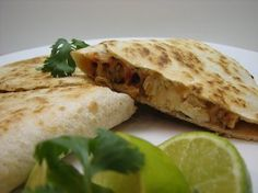 Weight Watchers Chicken Quesadillas recipe – 6 points (With Whole Wheat Tortillas)...I would probably put ground chicken in this, but only because I don't like cutting/cooking chicken breasts. Quesadilla Recipes, Quesadilla Chicken, Chicken Enchiladas, Whole Wheat Tortillas, Healthy Chicken, Grilled Chicken, Chicken Recipes, Clean Chicken, Grilled Food