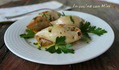 Calamari ripieni - cotti in padella ricetta facile senza uova