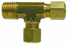 Brass Fittings - Brass Compression Fittings - Forged Male Run Tee - Compression X Male NPTF X Compression