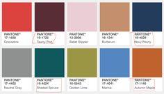 PANTONE Fall 2017 Colours