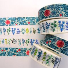 WASHI TAPE: Blue florals by HelloPlannerStuff on Etsy