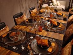 about Déco couleurs dautomne on Pinterest  Fall table, Fall table ...