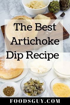 This recipe is so easy to make and only takes 15 minutes to make. You'll be eating delicious artichoke dip with your favorite bread, chips, or veggies in no time.We decided to make this the ultimate recipe by making this artichoke dip in a bread bowl topped with a layer of melted cheese. Are you drooling yet?