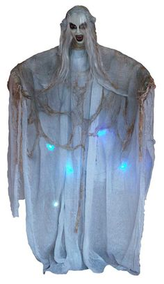 Standing Evil Ghoul Ghost with LED Lights Haunted House Halloween Prop | eBay