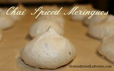 This delicious, low-fat recipe for Chai Spiced Meringues with Pecans is naturally gluten-free and dairy-free. Gluten Free Cookies, Gluten Free Desserts, Dairy Free Recipes, Fun Desserts, Dessert Recipes, Meringue Desserts, Healthier Desserts, Delicious Cookie Recipes, Yummy Cookies