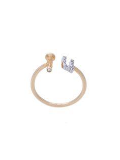 ALISON LOU Screw U diamond ring. #alisonlou #ring