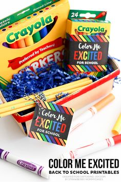 Color Me Excited Back to School Free Printables