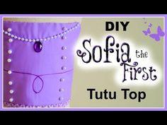 DIY Sofia the First Tutu Top - YouTube