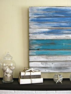 Love this easy to make coastal wall art. I'll be making some for my home staging business.