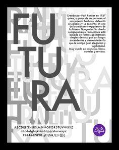 Afiche tipográfico by MininaGráfica #typo #futura
