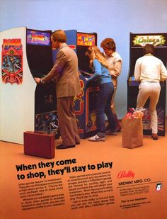 osconian: The go-to game for businessmen in fetching tan suits #gaming #arcade #flyer
