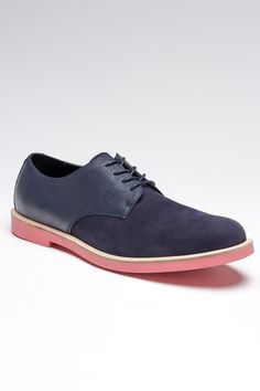 Navy with pink sole
