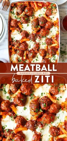 25 reviews · 80 minutes · Serves 6 · This pasta recipe is sure to become one of your all-time favorite dinner ideas! Baked to perfection with easy homemade meatballs, this cheesy baked ziti is the best kind of comfort food. Serve this… Easy Pasta Recipes, Easy Dinner Recipes, Beef Recipes, Dinner Ideas, Pasta Recipies, Corn Recipes, Simple Recipes, Easy Dinners, Healthy Dinners