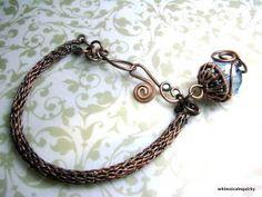 Athena Viking Knit bracelet and bead cap Tutorial by rimaumanja, $6.50