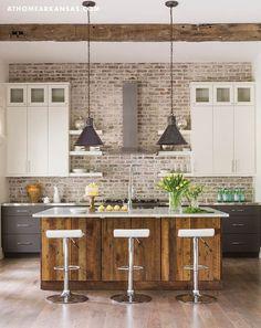 Kitchen Reclaimed Wood Island Hatchett Design Remodel
