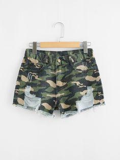 Shop for Denim Shorts Twin Outfits, Crop Top Outfits, Edgy Outfits, Short Outfits, Cool Outfits, Girls Fashion Clothes, Teen Fashion Outfits, Cute Fashion, Diy Summer Clothes