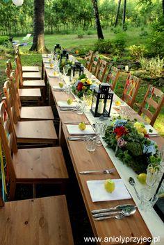 Wedding outdoor, table decor