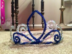 Pipe cleaner tiara :)...do these in red, white, and blue for the 4th