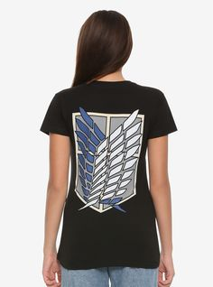 e6b619c879f Attack On Titan Wings Of Freedom Shield Girls T-Shirt
