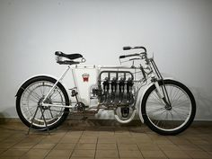A Laurin & Clement 640cc motorcycle from 1904.