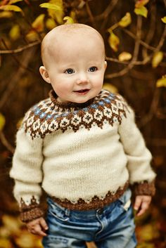 Ravelry: Project Gallery for Child& Icelandic Pullover pattern by Astrid Ellingsen Ravelry: Project Gallery for Childs Icelandic Pullover pattern by Astrid Ellingsen Baby Sweater Patterns, Baby Sweater Knitting Pattern, Fair Isle Knitting Patterns, Knit Baby Sweaters, Knitting Designs, Baby Patterns, Knit Patterns, Knitting For Kids, Crochet For Kids