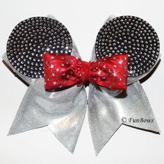 Absolutely AMAZING Rhinestone Allstar Mickey Bow - Funbows Original on Etsy, $30.00