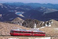Cog Rail to top of Pike's Peak (14,110 feet) - and Pikes Peak - America's Mountain: The Inspiration for America The Beautiful, Penned by Katharine Lee Bates