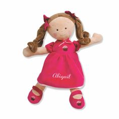 Personalized Little Princess Cupcake Doll - 14 Inch - Brunette