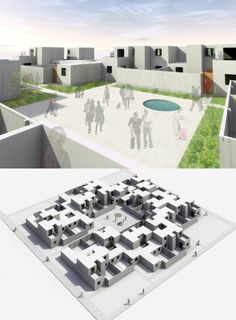 "Acquire wonderful pointers on ""rainwater collection architecture"". They are accessible for you on our web site. Amphitheater Architecture, A As Architecture, Co Housing, Social Housing, Cluster House, Urban Design Concept, Patio Central, Mix Use Building, Residential Complex"