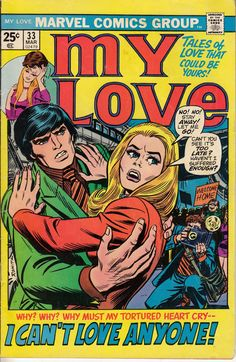 My Love 1975 Comic Book Marvel Comics Group a by embrace123, $8.00