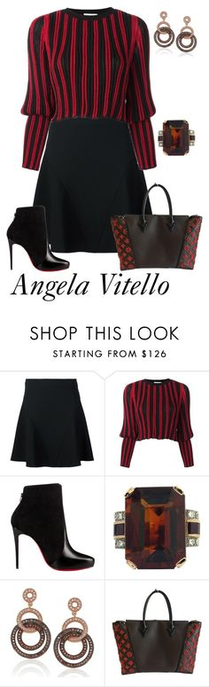 """Untitled #831"" by angela-vitello on Polyvore featuring STELLA McCARTNEY, Sonia Rykiel, Christian Louboutin, Suzy Levian and Louis Vuitton"