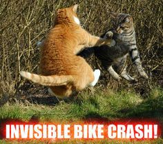 Invisible bike crash