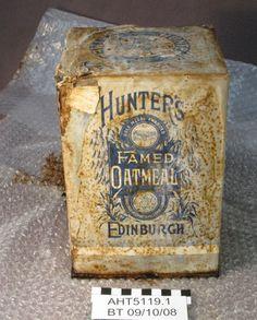 Hunter's famed oatmeal tin