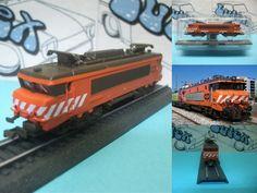 Static train  tren estatico   electric locomotive 2600-20 Portugal   CIL 1:100